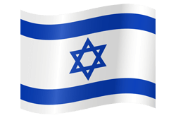 Flag of Israel - Waving