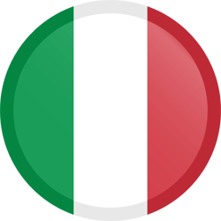 Flag of Italy - Button Round