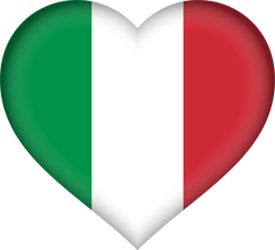 Flag of Italy - Heart 3D
