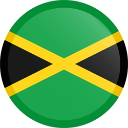 Flag of Jamaica - Button Round