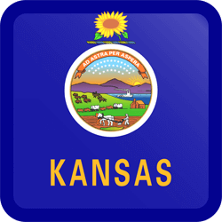 Download Kansas flag clipard
