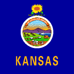 Kansas vlag vector