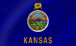 Drapeau du Kansas - Vague