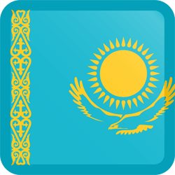 Kazakhstan flag vector - free download