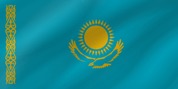 Drapeau du Kazakhstan - Vague