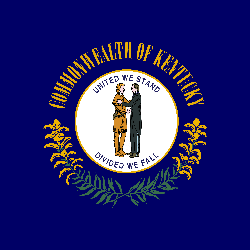 Flagge von Kentucky - Quadrat