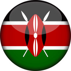 Flag of Kenya - 3D Round