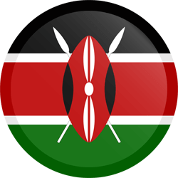 Flag of Kenya - Button Round