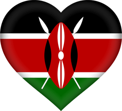 Flag of Kenya - Heart 3D