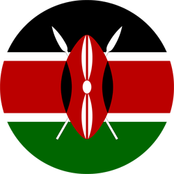 Flag of Kenya - Round