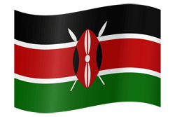 Flag of Kenya - Waving