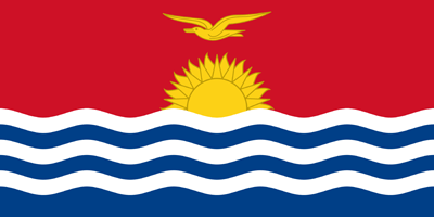 Kiribati flag vector - free download