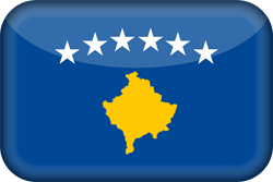 Flag of Kosovo - 3D