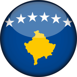 Flag of Kosovo - 3D Round