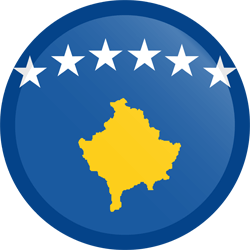 Flag of Kosovo - Button Round