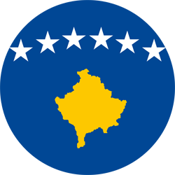 Flag of Kosovo - Round