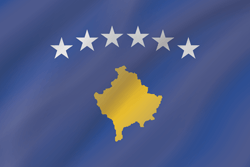Flag of Kosovo - Wave