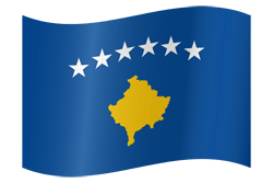 Kosovo vlag vector - gratis downloaden