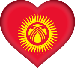Kyrgyzstan flag vector - free download