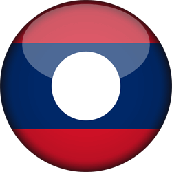 Flag of Laos - 3D Round