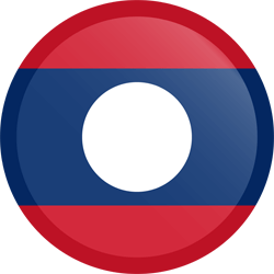 Flag of Laos - Button Round