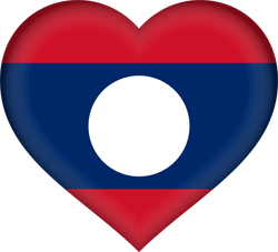 Flag of Laos - Heart 3D
