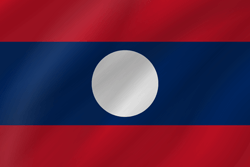 Flag of Laos - Wave