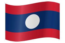 Flag of Laos - Waving