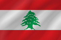 Drapeau du Liban - Vague