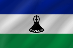 Lesotho flag vector - free download