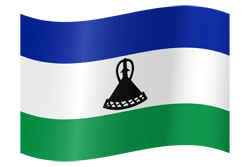 Lesotho flag icon - free download