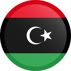 Flag of Libya - Button Round