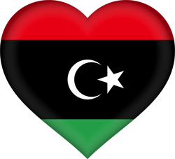 Flag of Libya - Heart 3D