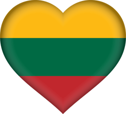 Flag of Lithuania - Heart 3D