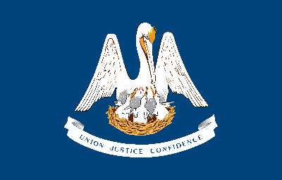 Louisiana flag image - free download