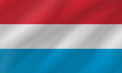 Drapeau du Luxembourg - Vague