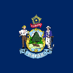 Maine vlag vector