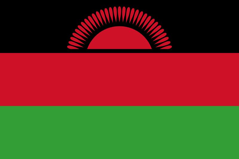 Malawi Flagge Paket