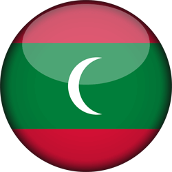 The Maldives flag icon - free download