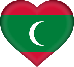 The Maldives flag image - free download