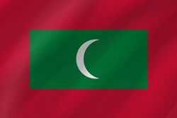 The Maldives flag vector - free download