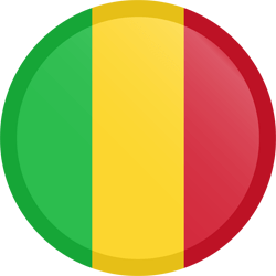 Flag of Mali - Button Round