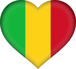 Flag of Mali - Heart 3D