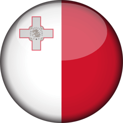 Flag of Malta - 3D Round
