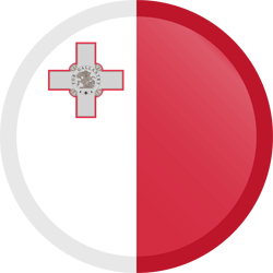 Flag of Malta - Button Round