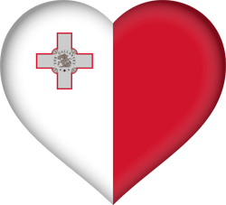 Flag of Malta - Heart 3D