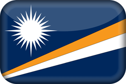 Flagge der Marshall Islands - 3D