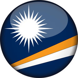 Flagge der Marshall Islands - 3D Runde