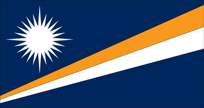 Flagge der Marshall Islands - Original