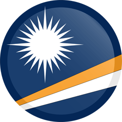 Flagge der Marshall Islands - Knopf Runde